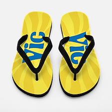 Vic Sunburst Flip Flops