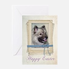 Keeshond Easter Card