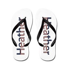 Heather Stars and Stripes Flip Flops