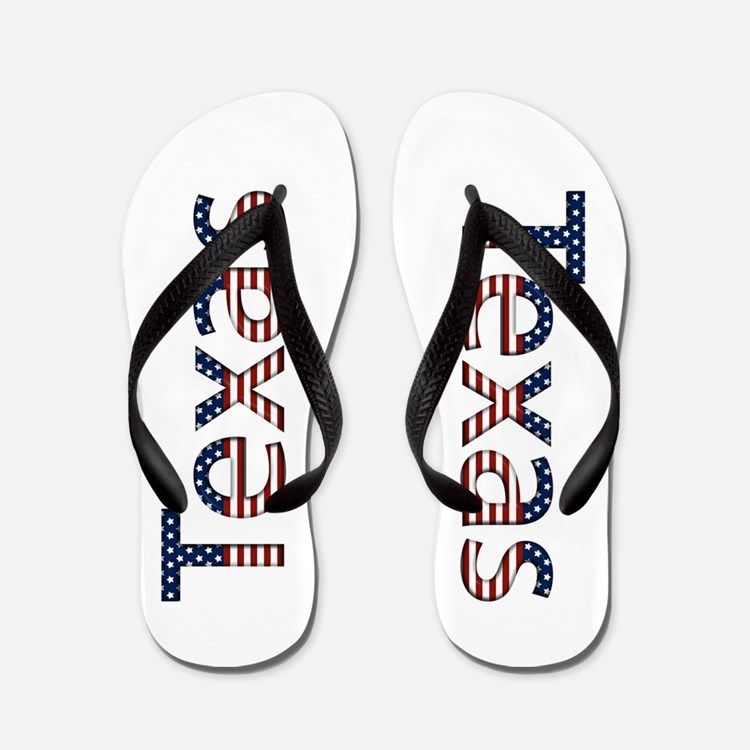 Texas Stars and Stripes Flip Flops
