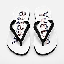 Yvette Stars and Stripes Flip Flops