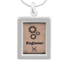 Engineer Silver Portrait Necklace