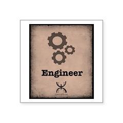 Engineer Square Sticker 3