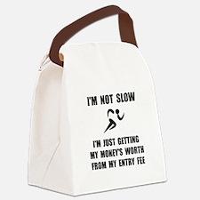 Slow Run Fee Canvas Lunch Bag