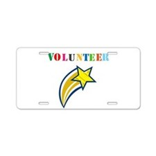 VOLUNTEER TWOSTARS DESIGN. STAR. Aluminum License