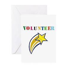 VOLUNTEER TWOSTARS DESIGN. STAR. Greeting Card