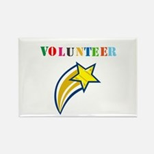 VOLUNTEER TWOSTARS DESIGN. STAR. Rectangle Magnet