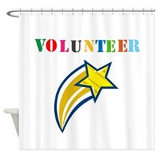 VOLUNTEER TWOSTARS DESIGN. STAR. Shower Curtain