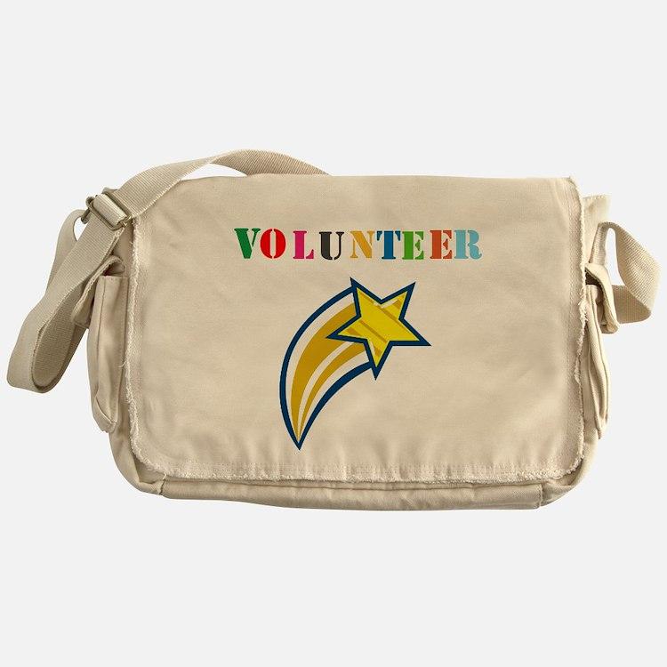 VOLUNTEER TWOSTARS DESIGN. STAR. Messenger Bag