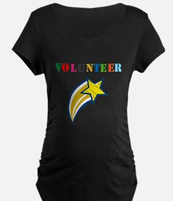 VOLUNTEER TWOSTARS DESIGN. STAR. Maternity T-Shirt