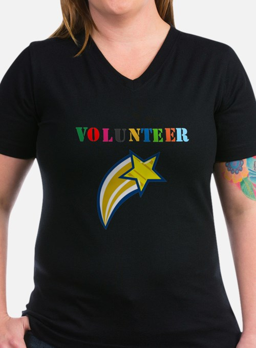 VOLUNTEER TWOSTARS DESIGN. STAR. T-Shirt