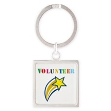 VOLUNTEER TWOSTARS DESIGN. STAR. Keychains