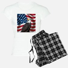 USA flag with bald eagle Pajamas