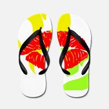 OYOOS Lip Heart design Flip Flops