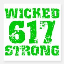 """Wicked 617 Strong Square Car Magnet 3"""" x 3"""""""