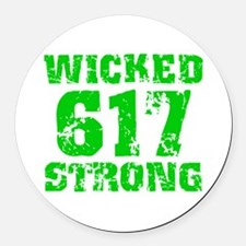 Wicked 617 Strong Round Car Magnet