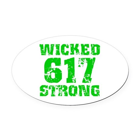 Wicked 617 Strong Oval Car Magnet