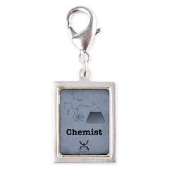 Chemist Silver Portrait Charm