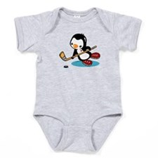 I Like Ice Hockey Baby Bodysuit