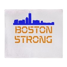 Boston Strong Skyline Throw Blanket