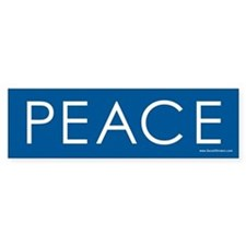 """Peace"" Bumper Sticker Blue"