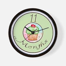 11 Months Cupcake Milestone Wall Clock