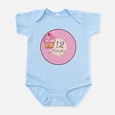 12 Months Cupcake Milestone Body Suit