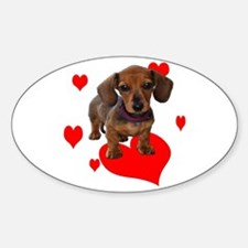 Love Dachshunds Decal