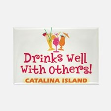 Catalina Island-Drinks Well Rectangle Magnet