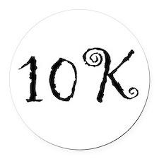 10K Round Car Magnet