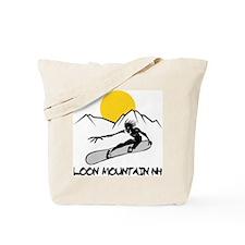 Loon Mountain Snowboarding Tote Bag