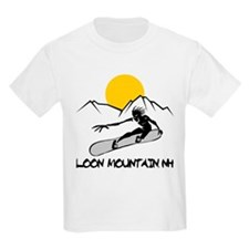 Loon Mountain Snowboarding Kids T-Shirt