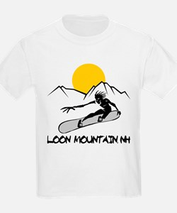 Loon Mountain Snowboarding Kids T-Shirt