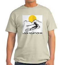 Loon Mountain Snowboarding Ash Grey T-Shirt