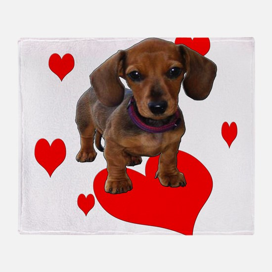 Love Dachshunds Throw Blanket