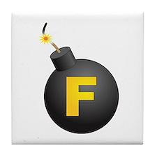 F-Bomb Tile Coaster