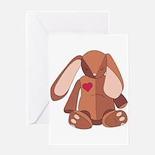 Stuffed Bunny Greeting Card
