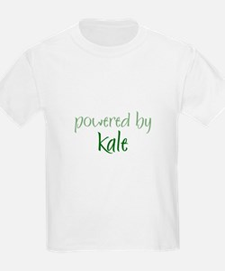 Powered By kale Kids T-Shirt