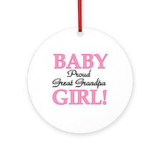 Baby Girl Great Grandpa Ornament (Round)