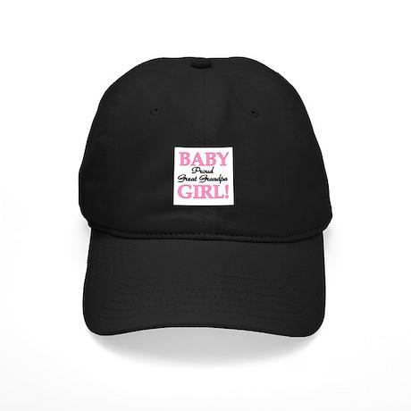 Baby Girl Great Grandpa Black Cap