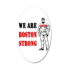 Boston Strong Flag 35x21 Oval Wall Decal