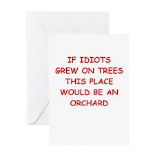 idiots Greeting Card