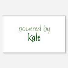 Powered By kale Rectangle Decal