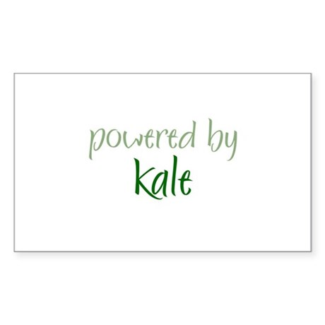 Powered By kale Rectangle Sticker