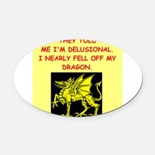 delusional Oval Car Magnet