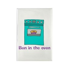 Bun in the oven Rectangle Magnet