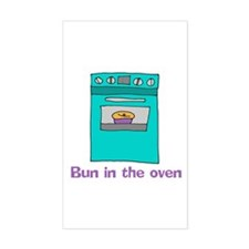 Bun in the oven Rectangle Decal