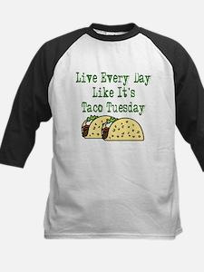Taco Tuesday Kids Baseball Jersey