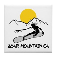 Bear Mountain Snowboarding Tile Coaster