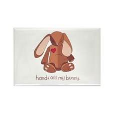 Hands Off My Bunny Rectangle Magnet